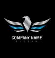 silver eagle logo vector image vector image