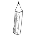 simple black and white pencil vector image vector image