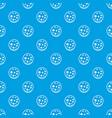 slice of salami pattern seamless blue vector image vector image