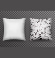 soft pillow sleep abstract print realistic 3d vector image vector image
