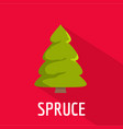 spruce tree icon flat style vector image vector image