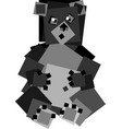 square bear vector image vector image