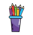 study element cartoon vector image vector image