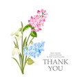 thank you card with template sign and spring vector image