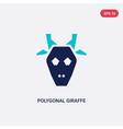 two color polygonal giraffe icon from geometry vector image vector image