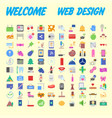 universal set of social technical household icons vector image vector image