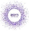 Violet confetti Circle Frame New Year 2017 vector image vector image