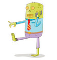 walking zombie use smart phone vector image vector image