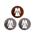 Woman coats icon set vector image