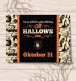 Halloween invitation Vintage hand drawn vector image