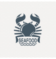 icon with crab vector image