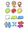 Hand-drawn symbols collection vector image