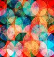 grunge watercolor circle seamless pattern vector image