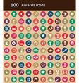 100 award icons vector image vector image