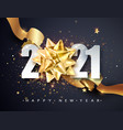 2021 happy new year greeting banner happy new vector image