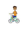 african boy kid riding a bicycle concept cycle vector image