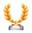 award branch laurel in pedestal icon vector image