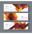 Banners with bright geometrical abstract lines vector image vector image
