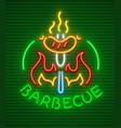 barbecue party neon icon vector image vector image