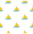 big ship pattern seamless vector image vector image