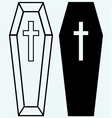 Black coffin vector image vector image