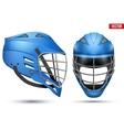Blue Lacrosse Helmet set vector image vector image