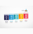 books infographic learning concept slide vector image
