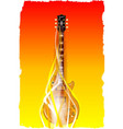 burning solid electric guitar vector image vector image