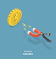 business success flat isometric low poly concept vector image vector image