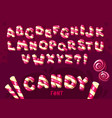 candy cartoon font vector image vector image