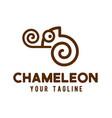 chameleon logo line art design vector image vector image