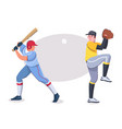 character baseball player batter pitcher vector image