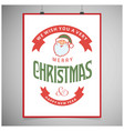 christmas greetings card design with grey vector image vector image