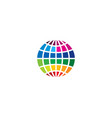 color globe logo icon design vector image