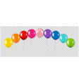 colorful garland with balloon isolated vector image