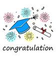 congratulation get a degree vector image vector image