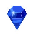 diamond sparkling shining blue color isolated on vector image