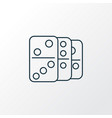 domino icon line symbol premium quality isolated vector image