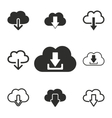 Download icon set vector image vector image