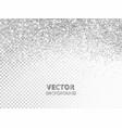 falling glitter confetti silver dust vector image vector image