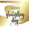 february 2 - groundhog day - hand lettering vector image