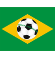 flag brazil with a picture a soccer ball vector image vector image
