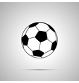 Football ball simple black icon vector image vector image