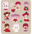 funny characters vector image vector image