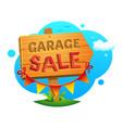 garage sale vector image vector image