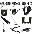 garden icon silhouette set 9 elements vector image vector image