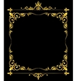 Golden ornate royal fleur de lys frame vector image vector image