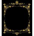 Golden ornate royal fleur de lys frame vector image