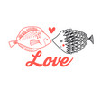 graphic fish lovers vector image vector image