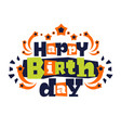 greeting card on his happy birthday letters in vector image vector image